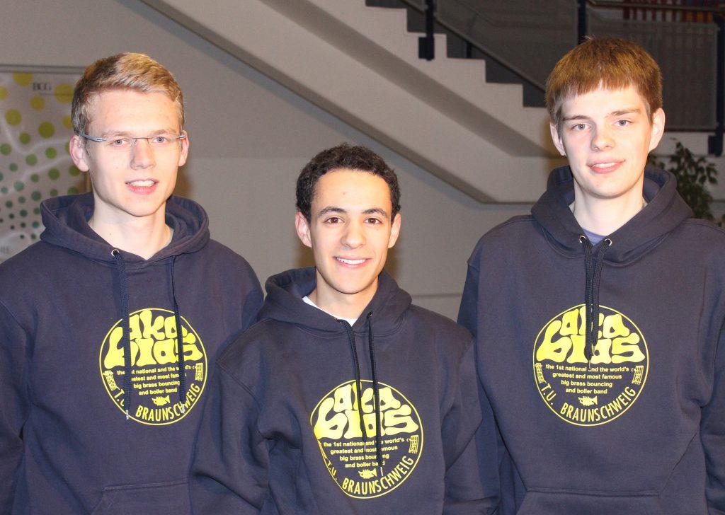 Vorstand: Hinrich Mahler (links), Daniel Hilmer (mitte), Silas Meinicke (rechts)